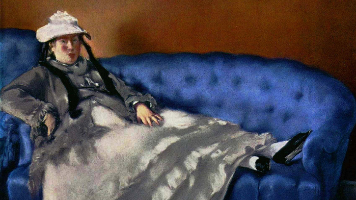 À quoi pense madame Manet (sur son canapé bleu) ?