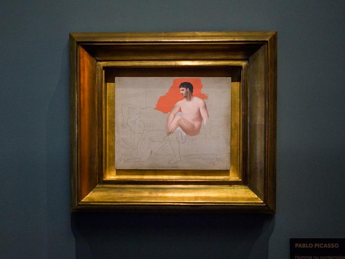 « Homme nu contemplant sa compagne endormie » (Pablo Picasso, 1922)