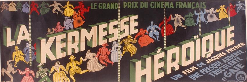 Affiche de Claude Lemeunier pour La Kermesse héroïque © Claude Lemeunier / DR, fonds Cinémathèque française