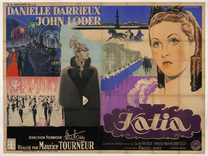 Affiche de Katia de Maurice Tourneur après restauration