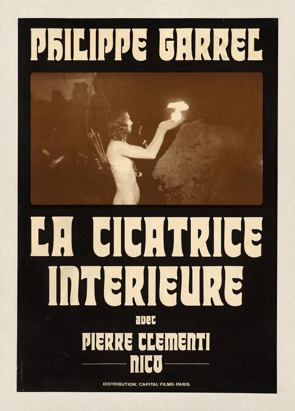 Affiche de La Cicatrice intérieure (Philippe Garrel, 1970), D.R.