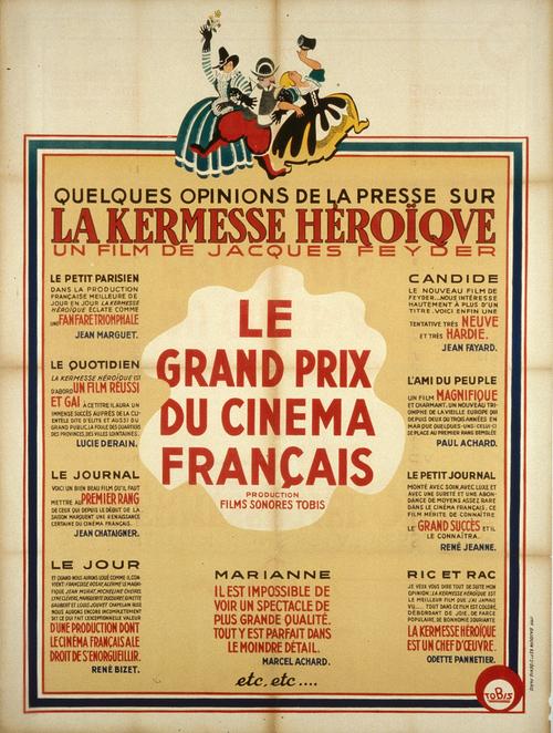 """Affiche de """"La Kermesse héroïque"""", non signée, 1935 / DR, fonds Cinémathèque Française"""
