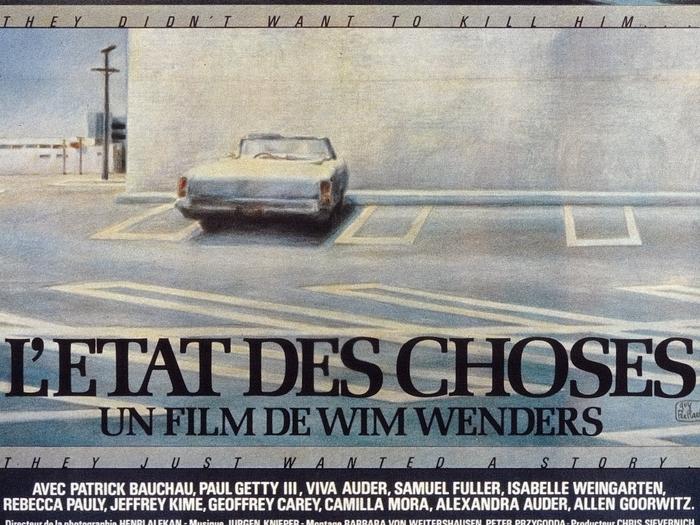 Affiche de L'Etat des choses (Wim Wenders, 1981) © Guy Peellaert, 1982