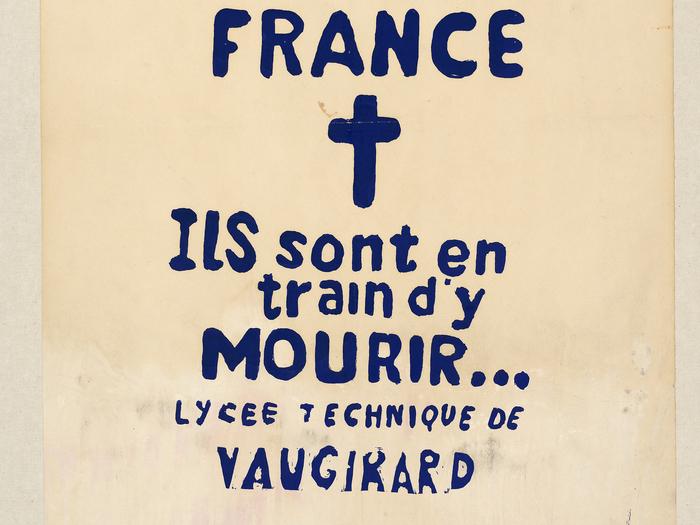 Affiche de manifestation ,1968 (A266-011)