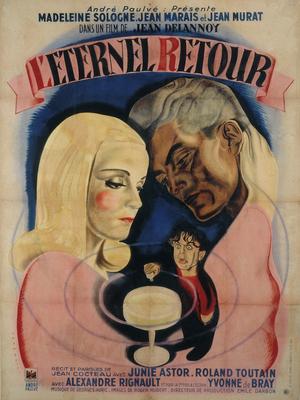 Affiche de René Péron pour Éternel retour (Lithographie, 166 x 125 cm) © ADAGP