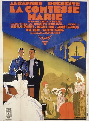 Affiche de René Péron pour La Comtesse Marie (161 x 120 cm) © ADAGP