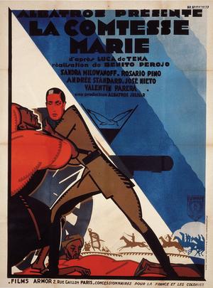 Affiche de René Péron pour La Comtesse Marie (163 x 123 cm) © ADAGP