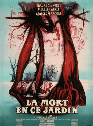 Affiche de René Péron pour La Mort en ce jardin (169 x 122 cm) © ADAGP
