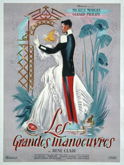 Affiche de René Péron pour Les Grandes manœuvres (168 x 122 cm) © ADAGP