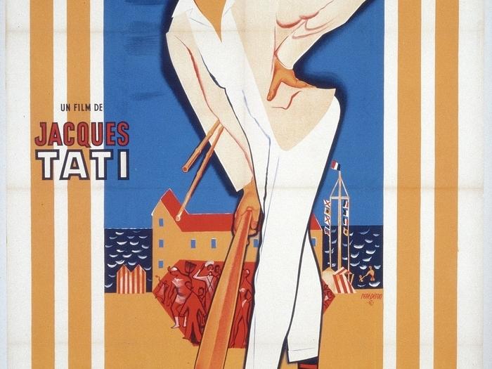 Affiche de René Péron pour Les Vacances de Monsieur Hulot (163 x 127 cm) © ADAGP