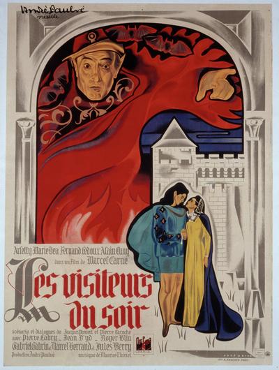 Affiche de René Péron pour Les Visiteurs du soir (167 x 125 cm) © ADAGP