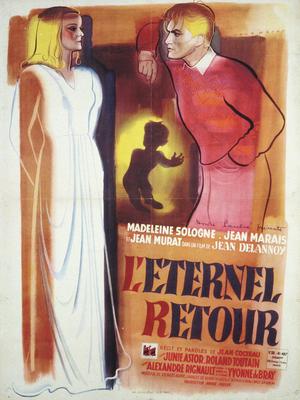 Affiche de René Péron pour L'Éternel retour (Offset, 80 x 59 cm) © ADAGP