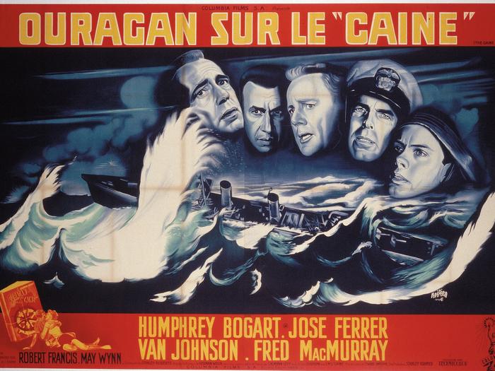 Affiche de René Péron pour Ouragan sur le Caine (164 x 239 cm) © ADAGP