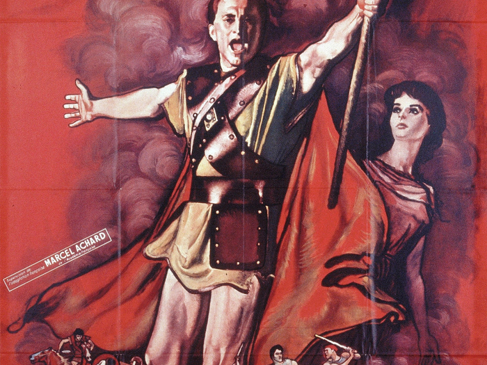 Affiche de René Péron pour Spartacus (160 x 120 cm) © ADAGP