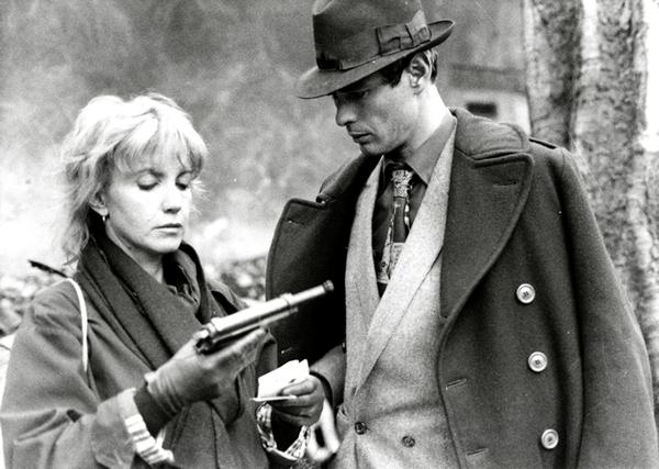 Avec Bulle Ogier dans <em>Le Pont du Nord</em> (Jacques Rivette, 1980). Photo de plateau (fonds Georges Sadoul), D.R.