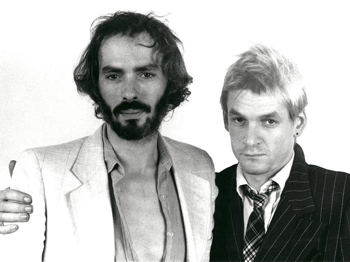 Avec Philippe Puicouyoul sur le tournage de La Brune et moi, 1979. Photo Michel Urtado © M. Urtado.