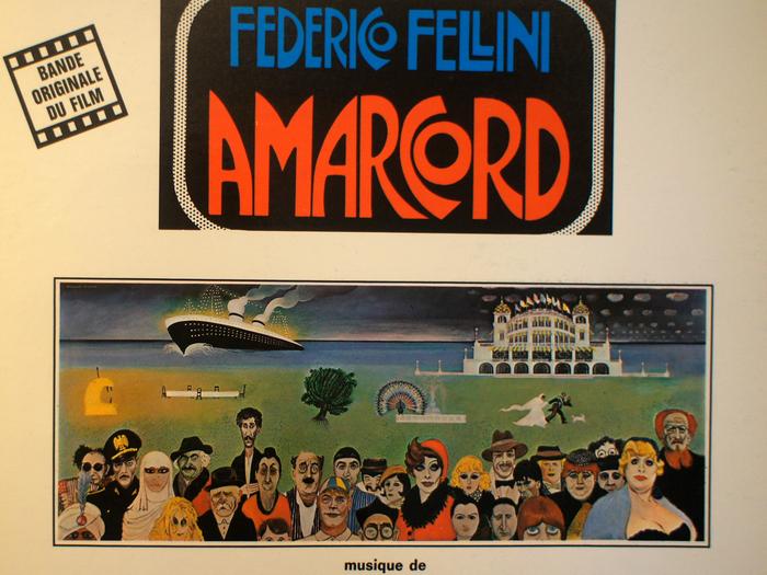 Bande originale de Amarcord, disque vinyle, fonds Jacques Poitrat