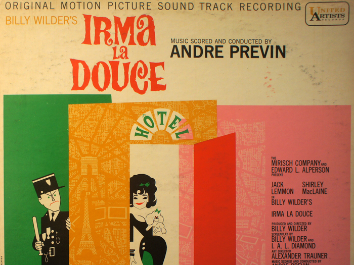 Bande originale de Irma la douce, disque vinyle, fonds Jacques Poitrat