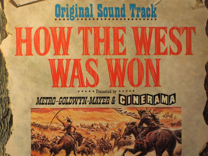 Bande originale de La Conquête de l'Ouest, disque vinyle, fonds Jacques Poitrat