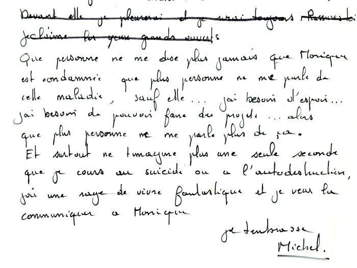 """Brouillon original de la lettre que Recanati a adressé à Goupil, page 4 (Archives GOUPIL 79 B18 – """"Mourir à trente ans"""" : """"Commentaires"""")"""