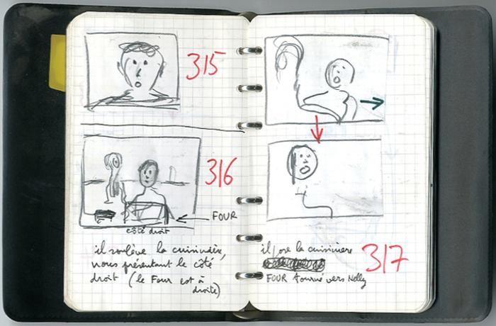 Carnet de notes de Jean-Paul Rappeneau