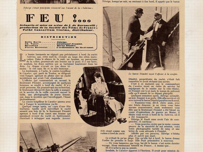 Coupure de presse extraite du fonds J. de Baroncelli (1927)
