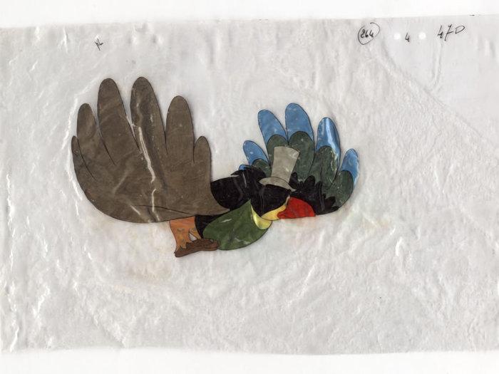 Celluloïds du Roi et l'Oiseau de Paul Grimault : l'oiseau (don du BFI)