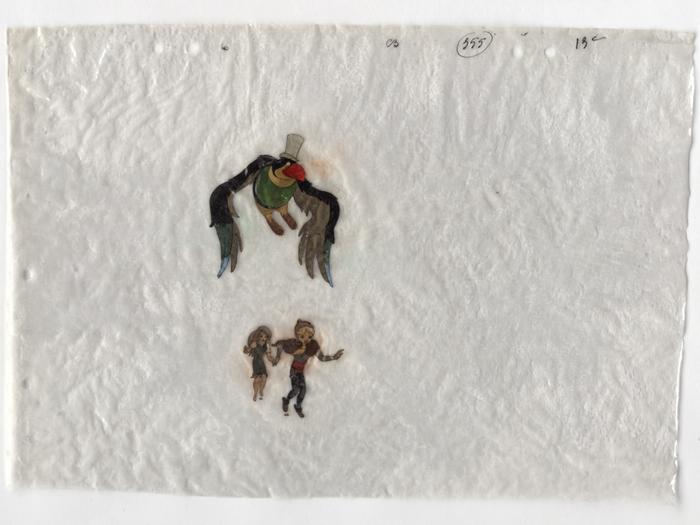 Celluloïds du Roi et l'Oiseau de Paul Grimault (don du BFI)