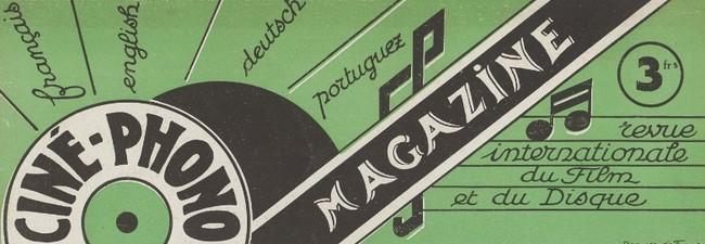 Ciné-phono magazine n° 3 (Juin 1930) - détail couverture
