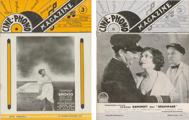 Ciné-phono magazine n° 6 (septembre-octobre 1930) et n° 10 (mars-avril 1931)