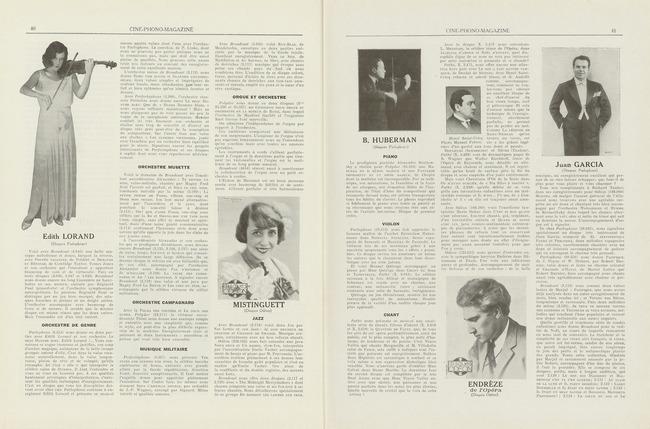 Ciné-phono magazine n° 8 (décembre - janvier 1931) - Rubrique Les Meilleurs Disques