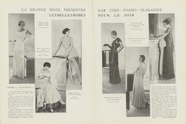 Ciné-phono magazine n° 8 (décembre, janvier 1931)–rubrique Mode