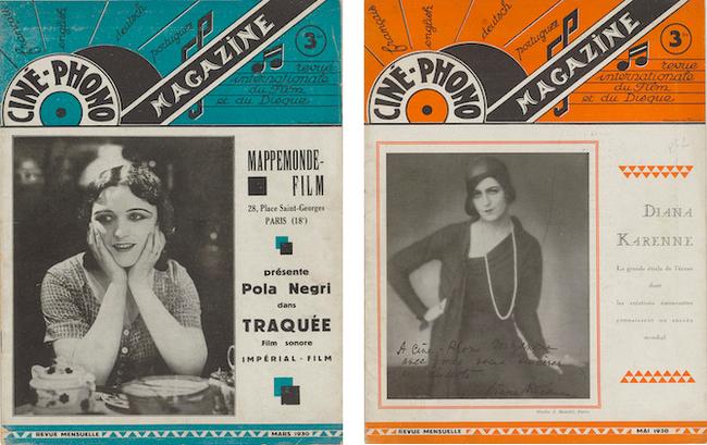Ciné-phono magazine n°1 (mars 1930) et n° 2 (mai 1930)