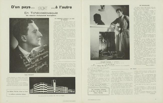 Ciné-phono magazine n°19 (mars-avril 1933), en Tchécoslovaquie le nouvel Hollywood Européen
