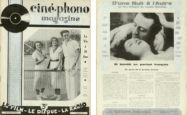 Ciné-phono magazine n°19 (mars-avril 1933) et n°18 (novembre-décembre 1932)
