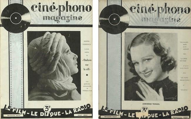 Ciné-phono magazine n°20 (août 1933) et n°22 (novembre 1934)