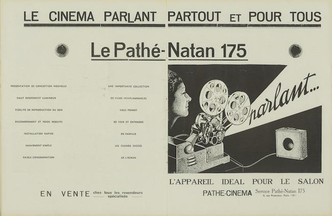 Ciné-phono magazine n°21 (mars 1934) Publicité projecteur familial Pathé-Natan