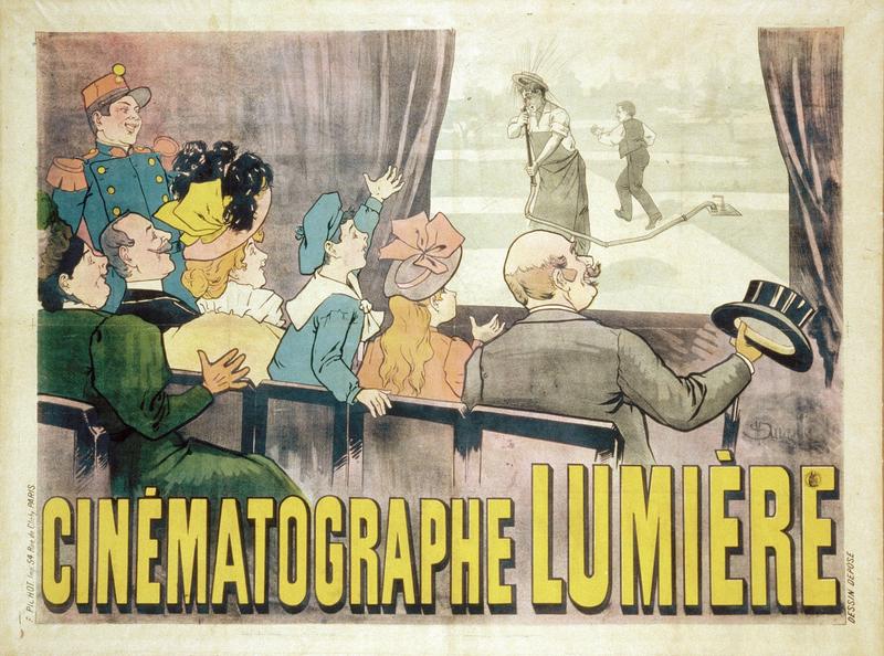« Cinématographe Lumière » par Marcel Auzolle (160 x 120 cm) / DR