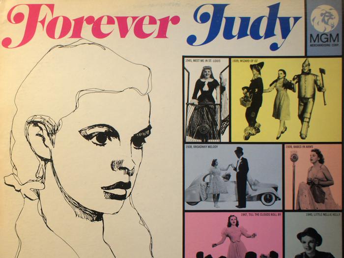 Compilation de chansons de Judy Garland, disque vinyle, fonds Jacques Poitrat