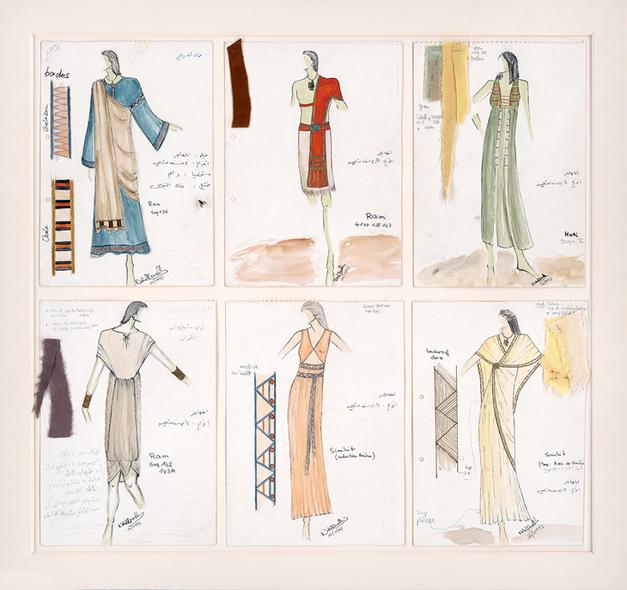 Costumes pour L'Emigré par Nahed Nasrallah