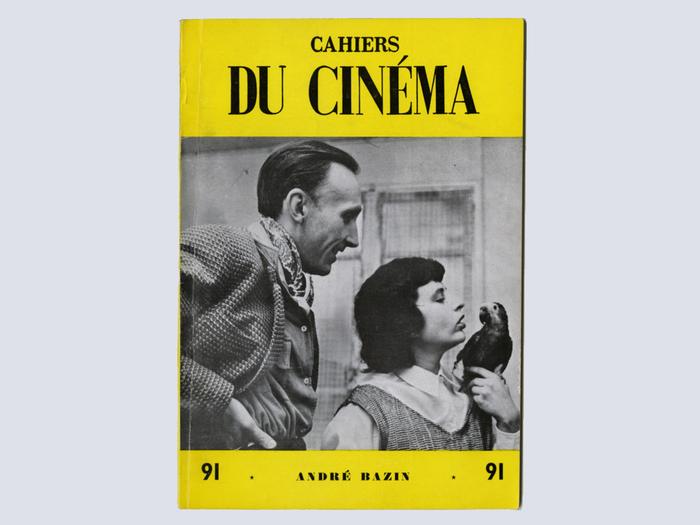 André et Janine Bazin en couverture du n°91 des Cahiers du cinéma