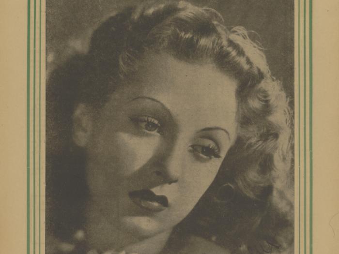 Danielle Darrieux en couverture de La Revue de l'écran n°347B du 31 octobre 1940