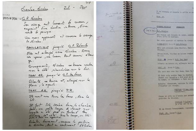 Découpage technique et continuité scénaristique pour Le Mouton enragé.[DEVILLE169 B33].