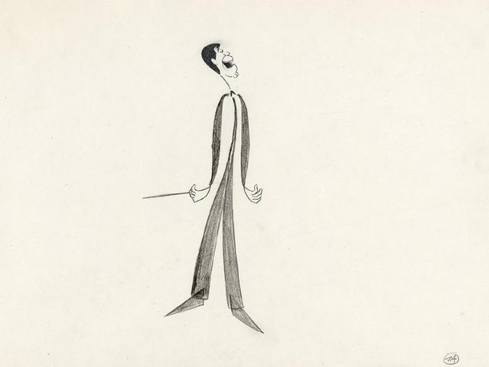 Dessin d'animation pour le film Bonjour Monsieur Lewis (de Robert Benayoun) par Pierre Etaix