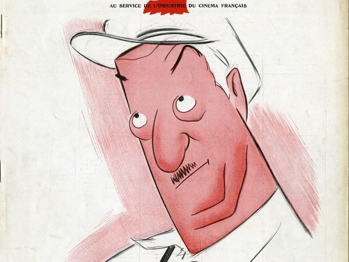Dessin de Toé pour la publicité du film César (couverture de La Cinématographie française n°933, 19 septembre 1936)