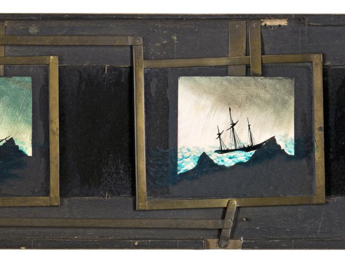 Diaphanorama d'Eugène Danguy - Bateau en pleine tempète