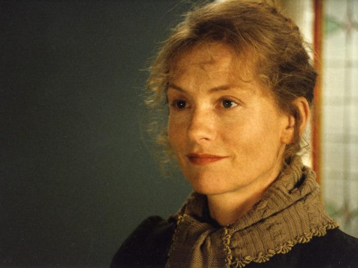"""Isabelle Huppert pendant les essais des """"Palmes de M. Schutz"""" de Claude Pinoteau (1996) © Pierre Lhomme"""