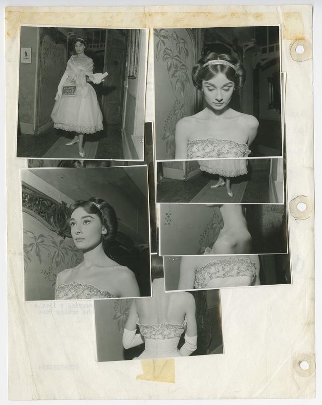 Essais lumière d'Audrey Hepburn