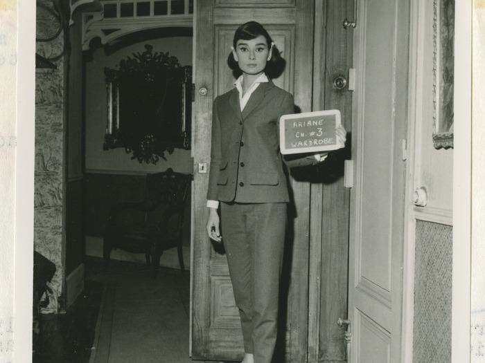 Essais lumière et costume d'Audrey Hepburn pour Ariane