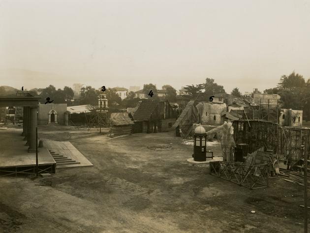 Extérieurs studios de la Victorine vers 1930